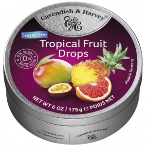 Cavendish & Harvey Sugar Free   Tropical Fruit 175g