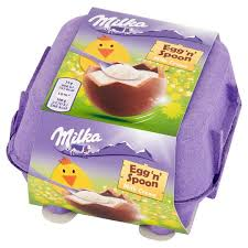Milka Egg'n' Spoon Milk Creme 136g