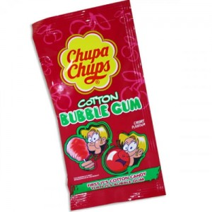 Chupa Chups Cotton Bubble Gum Cherry 11g